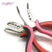 1 шт. изогнутые волосы для удаления волос плоскогубцы розовый красный и черный устройство для удаления рукоятки плоскогубцы для волос с зубами