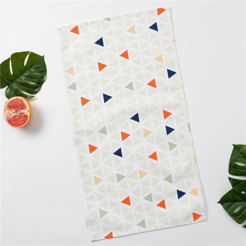 Towel Ethel Triangles, 35 × 65 cm петельке, репс, pl. 130g/m², 100% cotton decorative pillow case ethel triangles 45x45 cm репс pl 130g m² 100% cotton