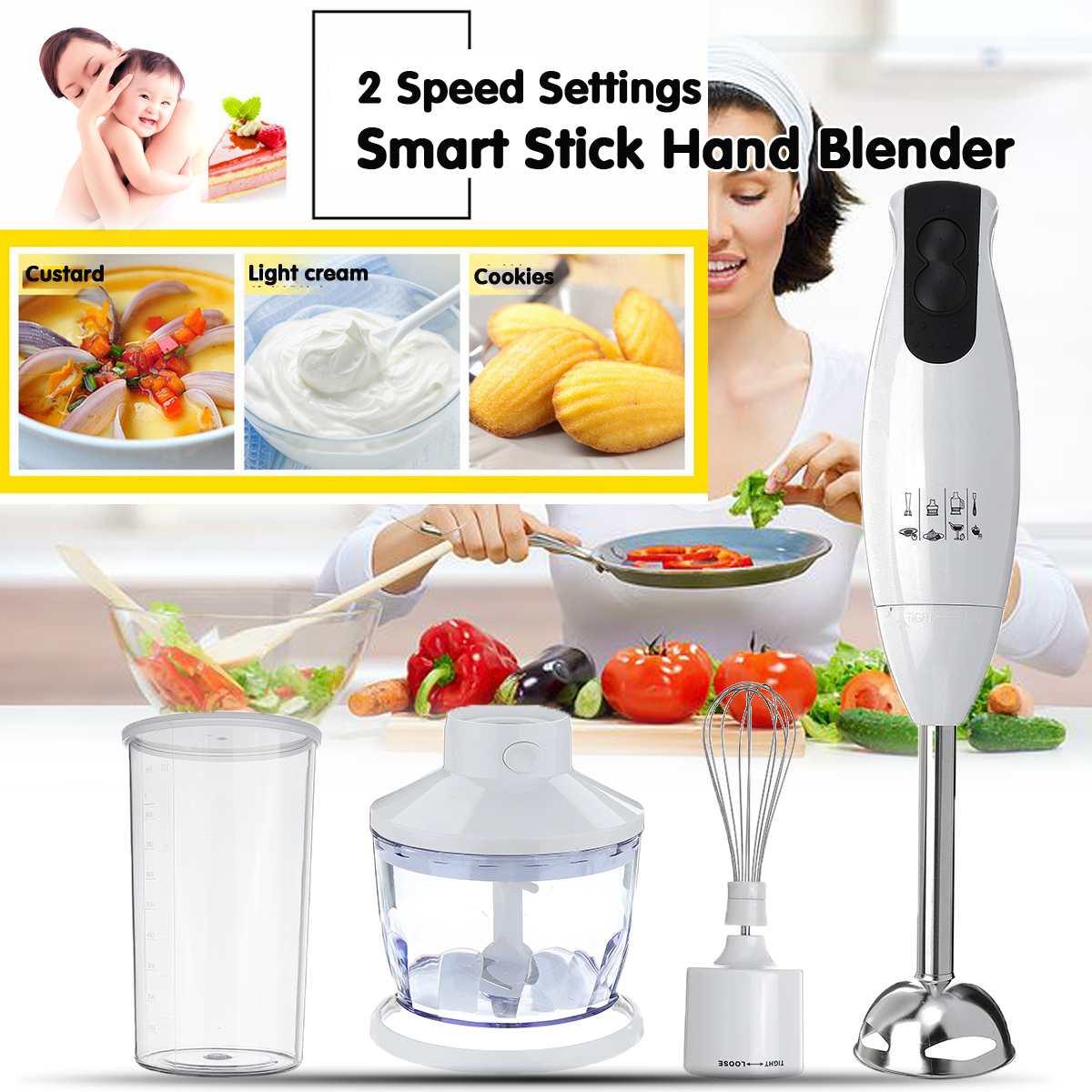 220V 450W Hand Blenders Portable Electric Stick Mixer Smart Speed Food Processor Set Handheld Stick Blenders EU Plug