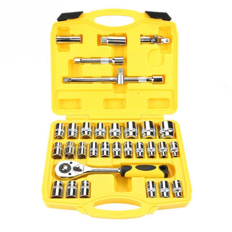 TU2132 32Pcs Socket Ratelsleutel Combinatie Tool Kit voor Auto Reparatie