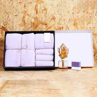 Three Piece Towel Microfiber Coral Velvet Bamboo Hand Towel Bath Towel Annual Gift Return Gift Box