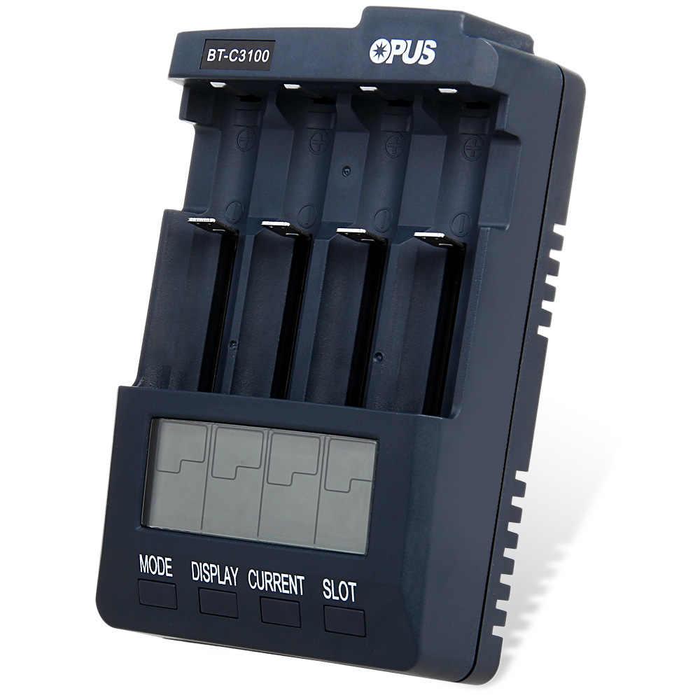 أوبوس BT-C3100 V2.2 الذكية الرقمية ذكي 4 فتحات LCD شاحن بطاريات متعددة ل ليثيوم أيون البلى نيمه بطاريات قابلة للشحن