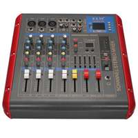 LEORY 4 Channel Digital Sound Mixer With USB bluetooth 48V Power LCD Display Digital Effects For Audio DJ Karaoke Mixing Console