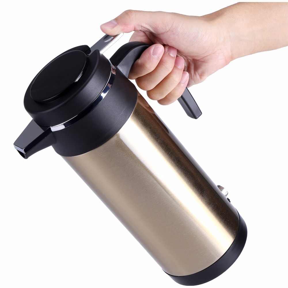 800 ml 12 v copo de aquecimento do carro automático chaleira elétrica em aço inoxidável carregador de carro copo de aquecimento elétrico aquecedor de água fervente chaleira