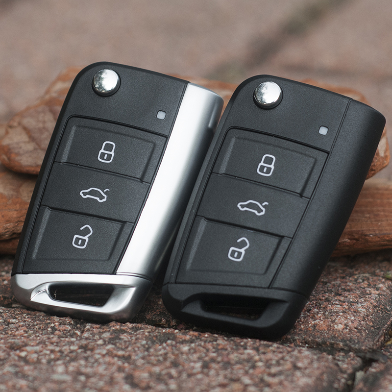 3 Button <font><b>Key</b></font> Case Flip Folding <font><b>Remote</b></font> Car <font><b>Key</b></font> Shell For Volkswagen <font><b>GOLF</b></font> <font><b>7</b></font> 5 6 mk4 6 Skoda New Case Replacement image
