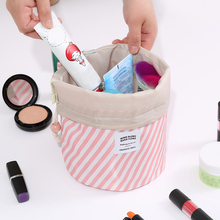 Drawstring Flamingo Cosmetic Bag Women Travel Makeup Toiletry Wash Case Eye Shadow Brush Lipstick Storage Organizer