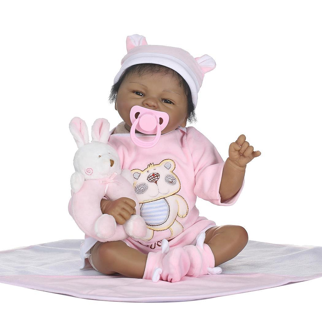 Full Body Silicone Reborn Girl Baby Doll Toy Lifelike Kids Soft Silicone Realistic With Clothes Reborn Baby DollFull Body Silicone Reborn Girl Baby Doll Toy Lifelike Kids Soft Silicone Realistic With Clothes Reborn Baby Doll