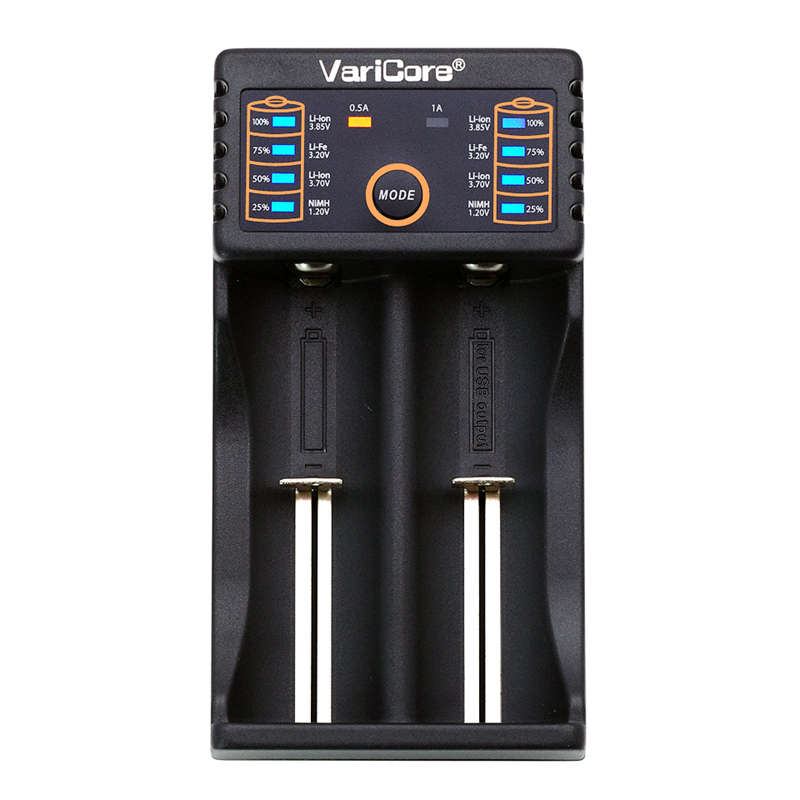Betrouwbare Varicore V20i 18650 Chargeur 1.2 V 3.7 V 3.2 V 3.85 V Aa/aaa 26650 26500 10440 16340 17670 18490 Nimh Chargeur De Batterie Au Lit Voor Het Verbeteren Van De Bloedsomloop