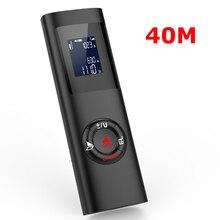 שחור 40m כף יד מיני LCD דיגיטלי לייזר מרחק מטר מד טווח 131ft אדום אור לייזר טווח Finder עם תאורה אחורית