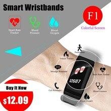 купить Ssmarwear F1 Plus Color Lcd Fitness Tracker Sleep Tracker Smart Bracelet Heart Rate Monitor Smart Watch band Activity Tracker по цене 670.54 рублей