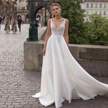 Lorie 2019 пляжное свадебное платье es v образный вырез кружевные