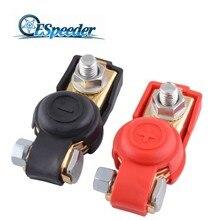 ESPEEDER 2 шт./пара Авто Батарея переключатель терминал головка с зажимом быстрого крепления крепежной площадки для 12V-Red+ синий положительные и отрицательные для автомобиля, грузовика, Караван Лодка