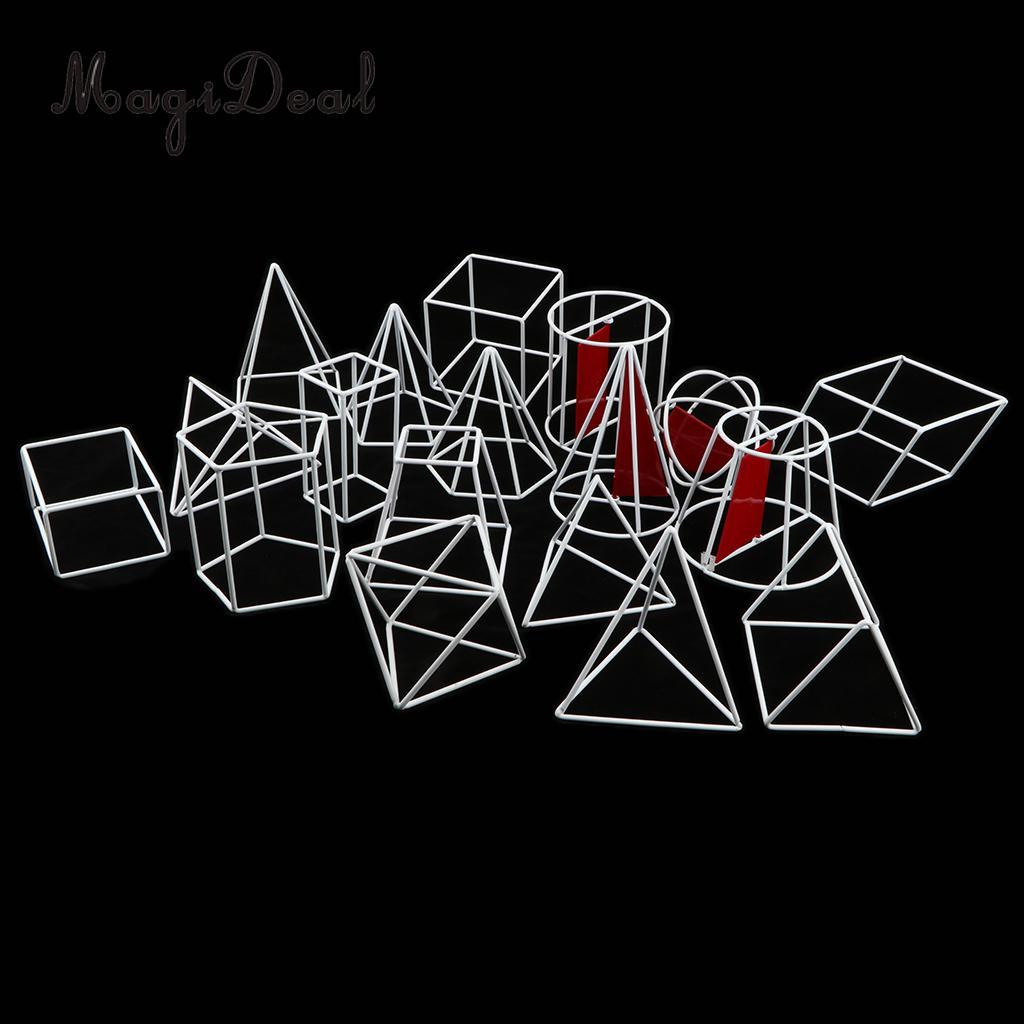 18 unids/set 3D visualización espacial modelo sólido geométrico-Escuela Secundaria matemáticas geometría ayuda Visual herramientas de enseñanza juguete de aprendizaje