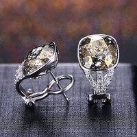 S925 серебряная шпилька Серьги с алмазами для Для женщин опаловые серьги Kolczyki orecchini девочек perola букле г oreille perle bizuterias 2019