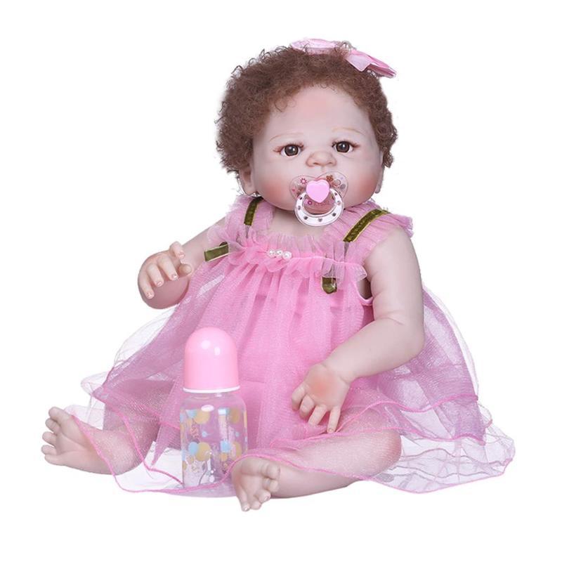 NPK 56cm Cute Vinyl Simulation Reborn Doll Lifelike Silicone Reborn Baby Doll Toys Realistic Imitation Baby Companion ToyNPK 56cm Cute Vinyl Simulation Reborn Doll Lifelike Silicone Reborn Baby Doll Toys Realistic Imitation Baby Companion Toy