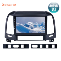 Seicane 9 Android 8.1 2din Car GPS Stereo Radio For HYUNDAI SANTA FE 2005 2012 Touchscreen Multimedia Player Head Unit