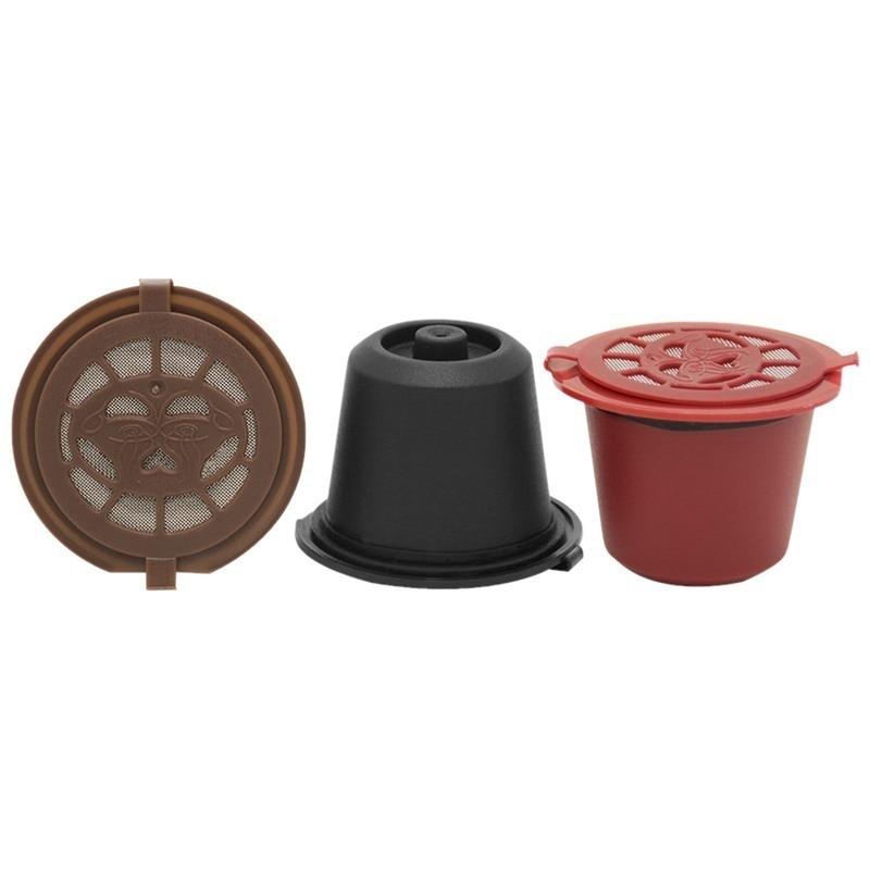 4PCS Nespresso Refillable Reusable Nespresso Coffee Capsule 20ML Filters Reutilisable Coffee Capsule Nespresso Cups Spoon Brush 2