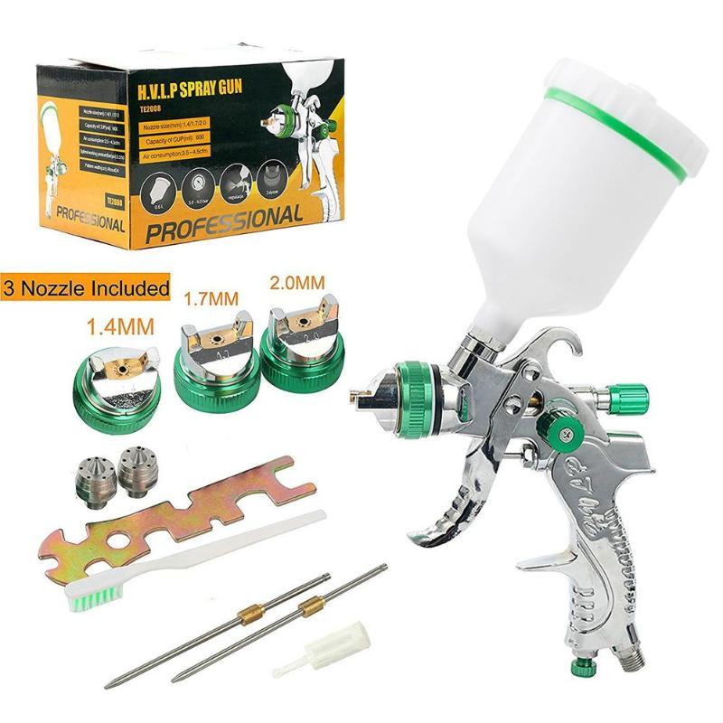 1 4 1 7 2 0mm Spray Guns Nozzle Mini Air Paint HVLP Spray Gun Mini