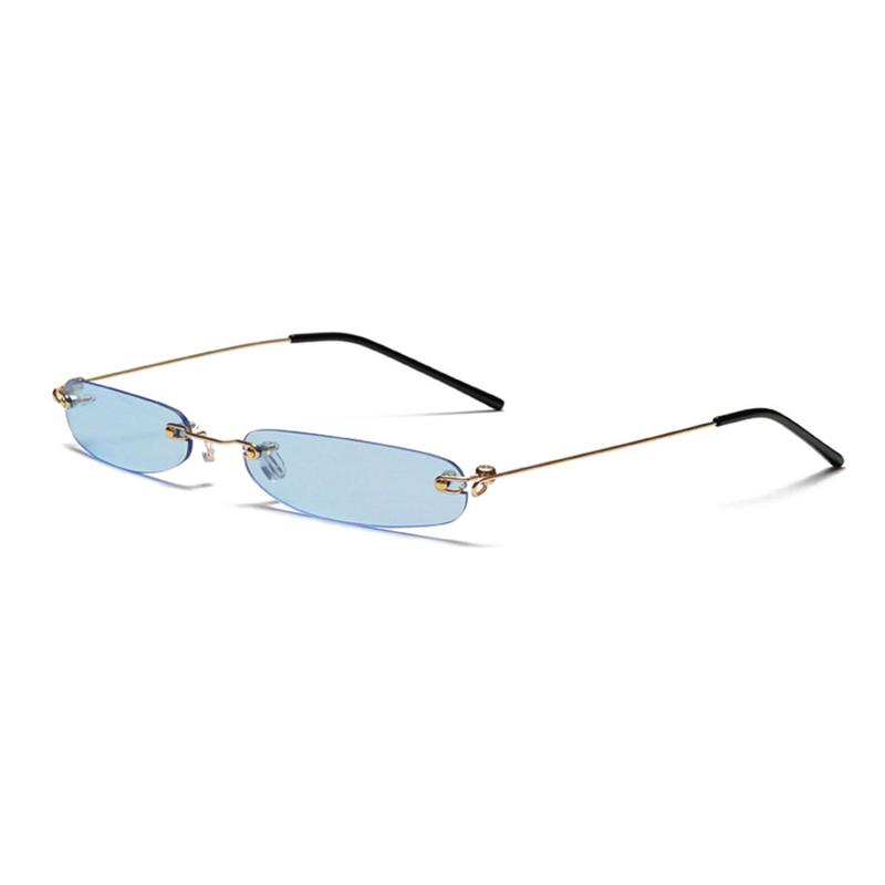 100% Brand New And Excellent Quality Alloy Personality Mini Frameless Sunglasses Trendy Ocean Sunglasses Cycling Glasses
