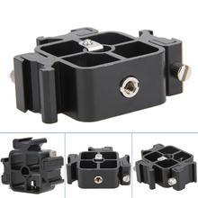 3 в 1 цельнометаллический тройное Крепление-адаптер для горячего башмака для держателя вспышки