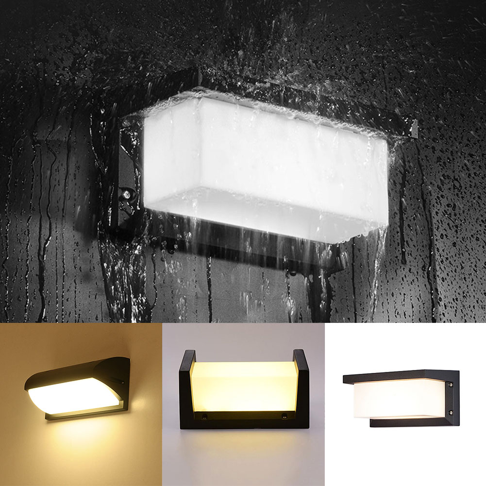 Outdoors Wall Lamp Porch Radar Rectangle Courtyard LED Light Motion Sensor Decorations Modern Simple Garden Waterproof Home Use