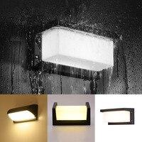 Outdoors Wall Lamp Porch Radar Rectangle Courtyard LED Light Motion Sensor Decorations Modern Simple Garden Waterproof Home Use