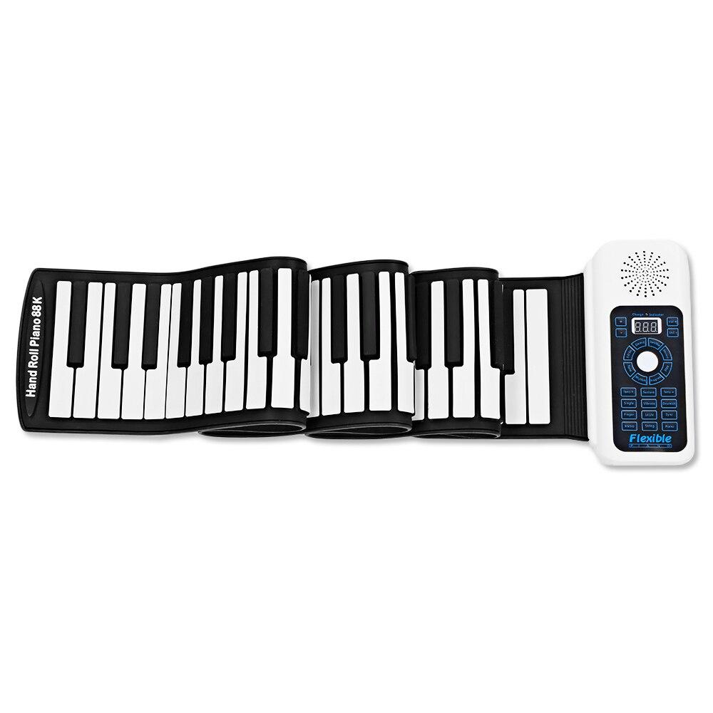 Portable Silicone 88 Touches Main Roll Up Piano Avec MIDI Électronique Clavier 140 Tons 128 Rythmes Dual-Core Haut-Parleur roll Up Piano