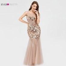 3e21250684 Elegante lentejuelas vestidos largos de baile bonito EP07922RG de cuello en V  sin mangas brillo transparente