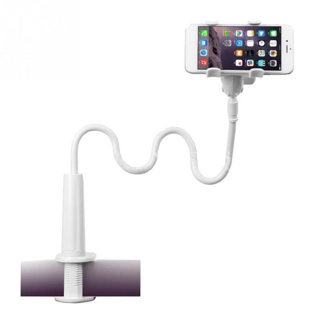 360 Xoay Linh Hoạt Dài Cánh Tay Điện Thoại Di Động Chủ Giường Desktop Khung Lười Biếng Điện Thoại Đứng Đối Với iPhone Samsung Tablet