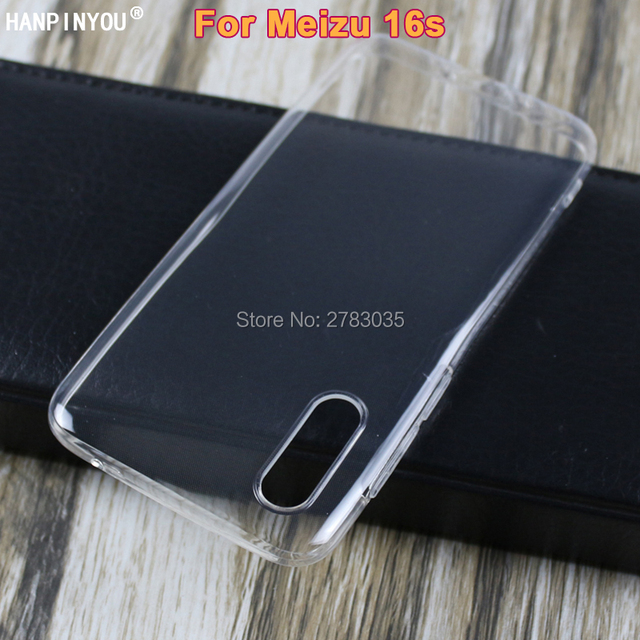 For Meizu 16s Slim Crystal Clear Transparent Soft TPU Back Case Protection Skin Camera Protect Cover