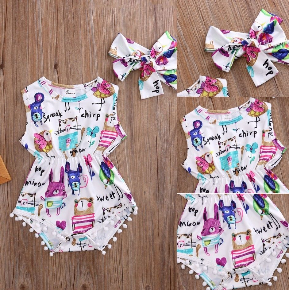 Pudcoco Girl Jumpsuits 0-24M Adorable Baby Girl   Romper   Outfit Clothes Sunsuit Outfits Newborn Infant Jumpsuit