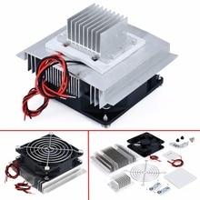 лучшая цена 1Pcs Thermoelectric Refrigeration Cooling System Semiconductor Refrigeration Air Conditioner Cooler DIY Kit DC 12V 5.8A