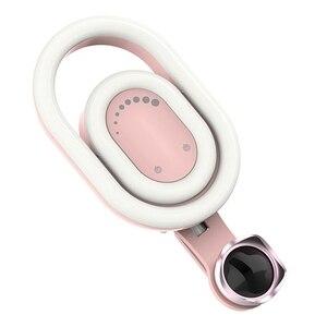 Image 3 - 뷰티 필 라이트가있는 휴대 전화 카메라 렌즈 라이브 셀카 부드러운 스키니 페이스 광각 외부 전화 렌즈