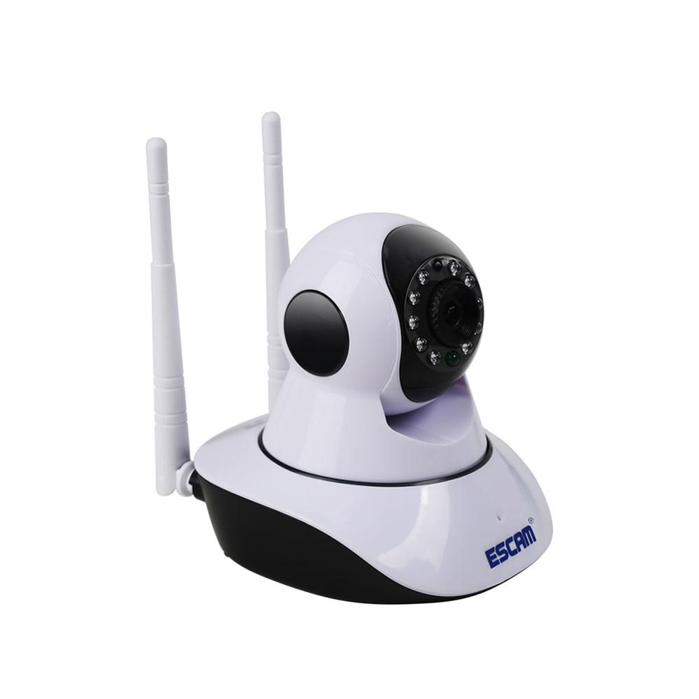 ESCAM G02 Dual Antenna Wifi IP Camera HD 720P Pan Tilt Camera IR Night Vision WiFi ONVIF PTZ Camera IR-Cut Mini P2P WiFi Cameras
