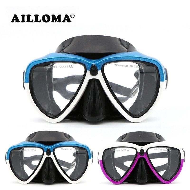 AILLOMA Underwater Camera Sports Voksen Scuba Diving Udstyr Anti-Fog Silicone Svømning Masker For Kvinder Og Mænd Snorkel
