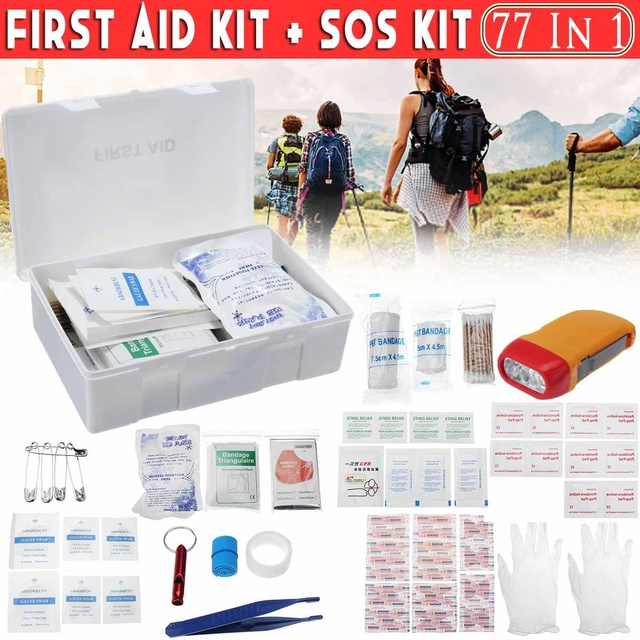 Portable Travel First Aid Emergency Survival Kit Outdoor Trauma Medical Bag SOS Tool Kit Lightweight Versatile Practical Aid