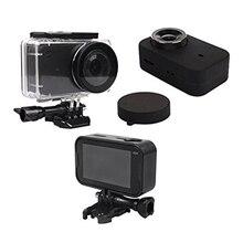 Водостойкие housing Case Box + рамка оболочки + кожа чехол + Защитная крышка объектива для Xiaomi Mijia Спортивная Экшн-камера 4k
