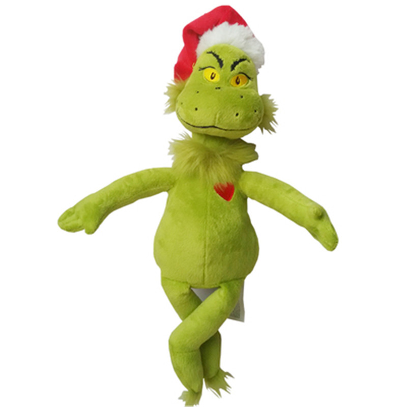 New 38cm Movie How the Grinch Stole Christmas Grinch Doctor Seuss Cartoon Cute Stuffed Plush Toy Doll Children Birthday Gift largest size 95cm panda plush toy cute expression panda doll birthday gift w9698