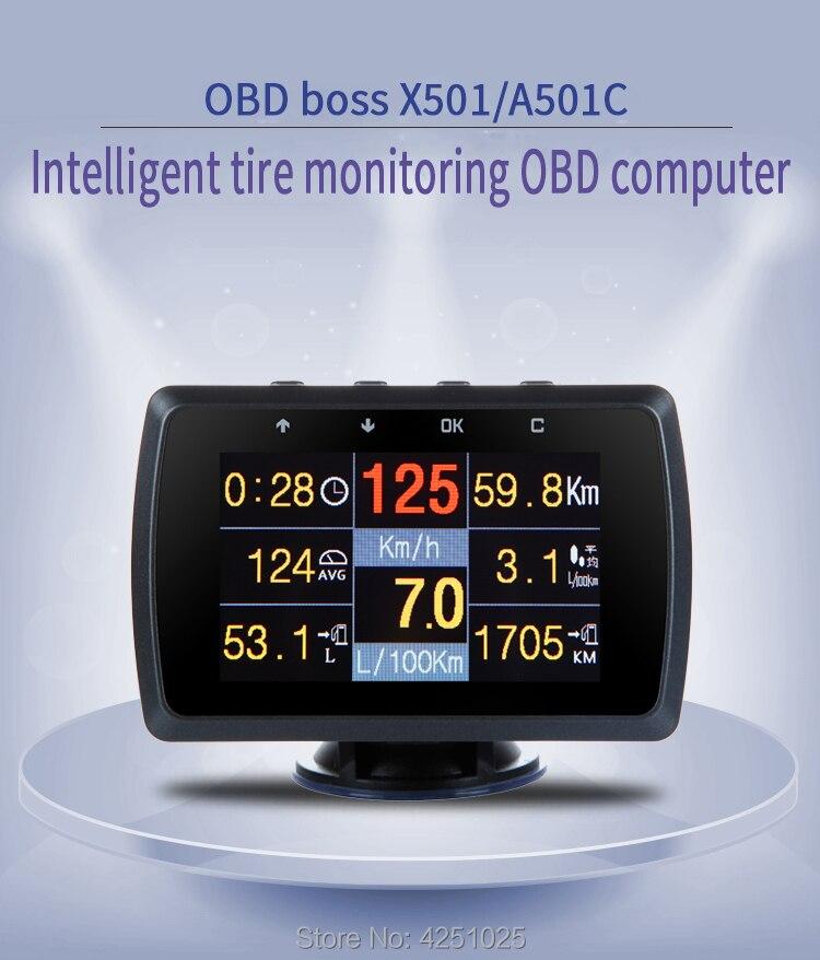 CXAT 501C Multi Funcional Inteligente OBD Carro HUD Medidor Digital Display de Alarme de Código de Falha