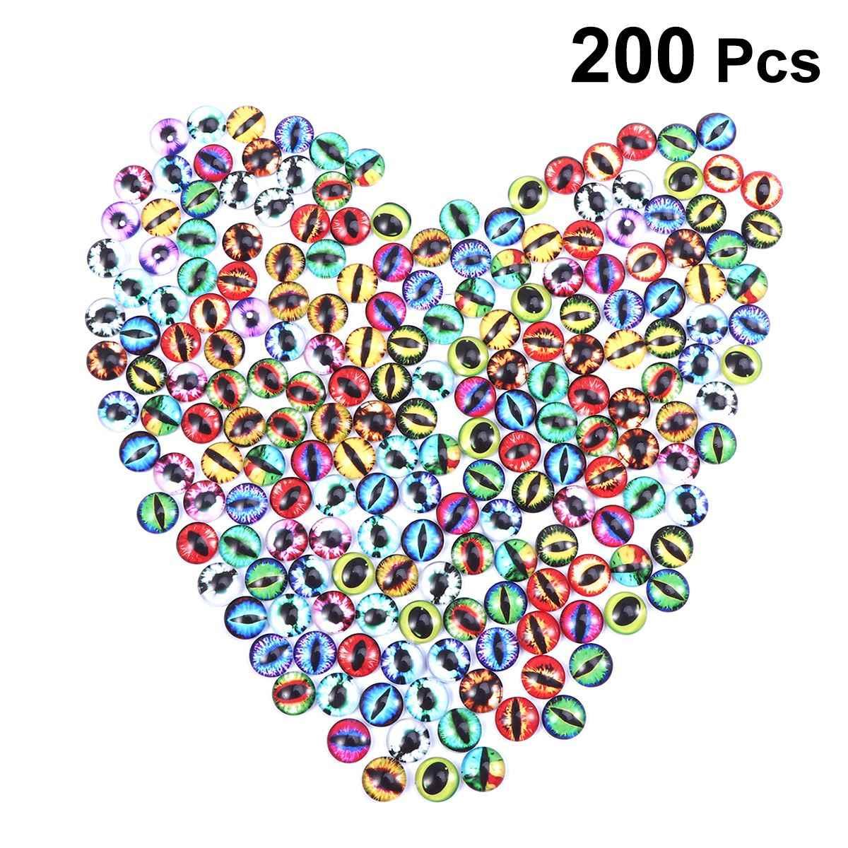 200 cái TỰ LÀM Khảm Kính Hoán Đổi Cho Nhau Tinh Thể Thủy Tinh Rồng Mắt Đa Màu Sắc Nút Snaps Cabochon cho Vòng Đeo Tay Làm
