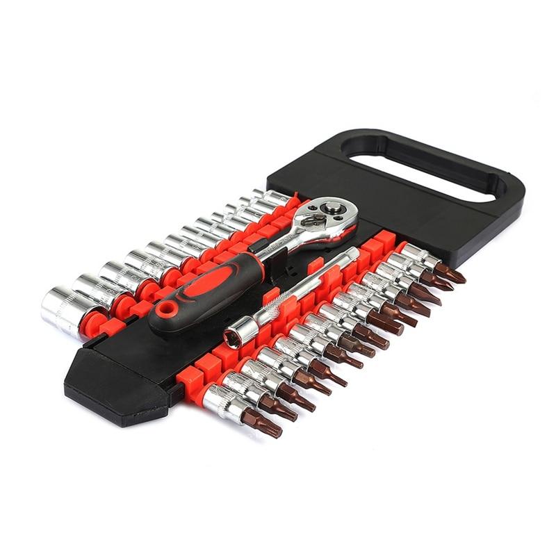 Aletler'ten İngiliz an.'de 28 adet tüp çift sıralı kilit anahtarı seti 1/4 küçük uçucu tamir lokma anahtar aracı faydalı el aracı Set araba tamir title=