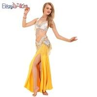 b72dbc076 ... traje vientre ropa bailarina Sexy las mujeres trajes vestidos. E A  Halter Bellydance 3pcs Bra Belt Skirt Belly Dance Costume Belly Dance  Clothing Dancer ...