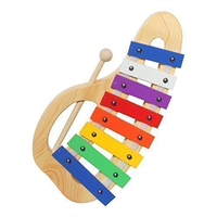 Unlimited Glockenspiel Xylophone, Handcrafted Precision Tuned Musical Instrument Includes Sturdy Wooden Mallet