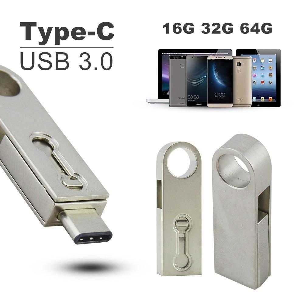 CHYI di Tipo C USB 3.0 Flash Drive 16 gb 64 gb Pendrive 32 gb Tablet Smartphone USB Bastone di Memoria Mini OTG Pen Drive Gadget Flash Disk