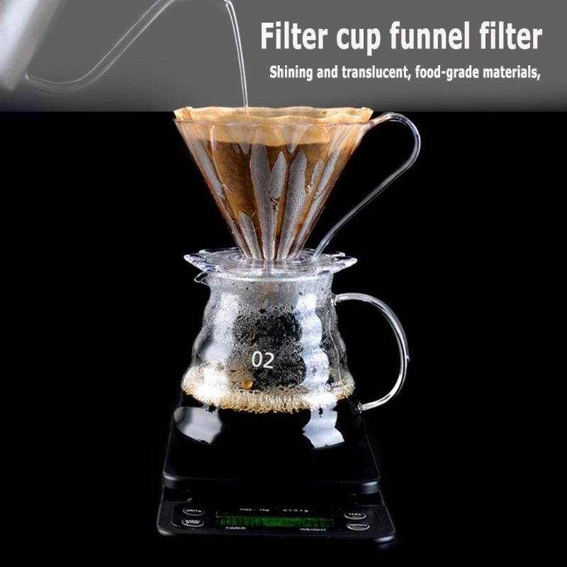 Coffee:  Kitchen Tools Portable Coffeeware Resin Coffee Filter Cup Drip Coffee Cup Bowl Ten Petals Funnel - Martin's & Co