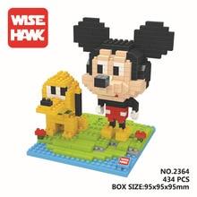 Wisehawk Mini Blocks Goofy Microblocks DIY Building Toys Daisy 3D Auction Mickey Anime Juguete for Girls Gift 2465
