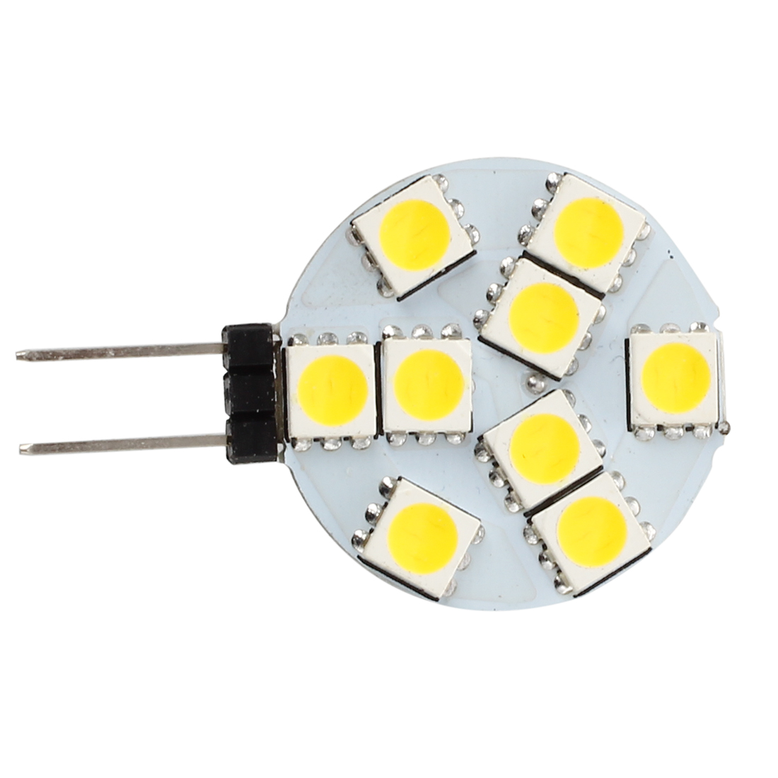 <font><b>10</b></font> <font><b>pcs</b></font> <font><b>G4</b></font> DC 12V 9 5050 SMD LED Spot Light Bulb Warm White for RV Boat image