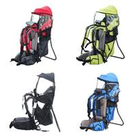Adjustable Baby Toddler Backpack 30KG Load Outdoor Camping Hiking Child Kid Carrier Portable Mountaineering Baby Sitting Chairs