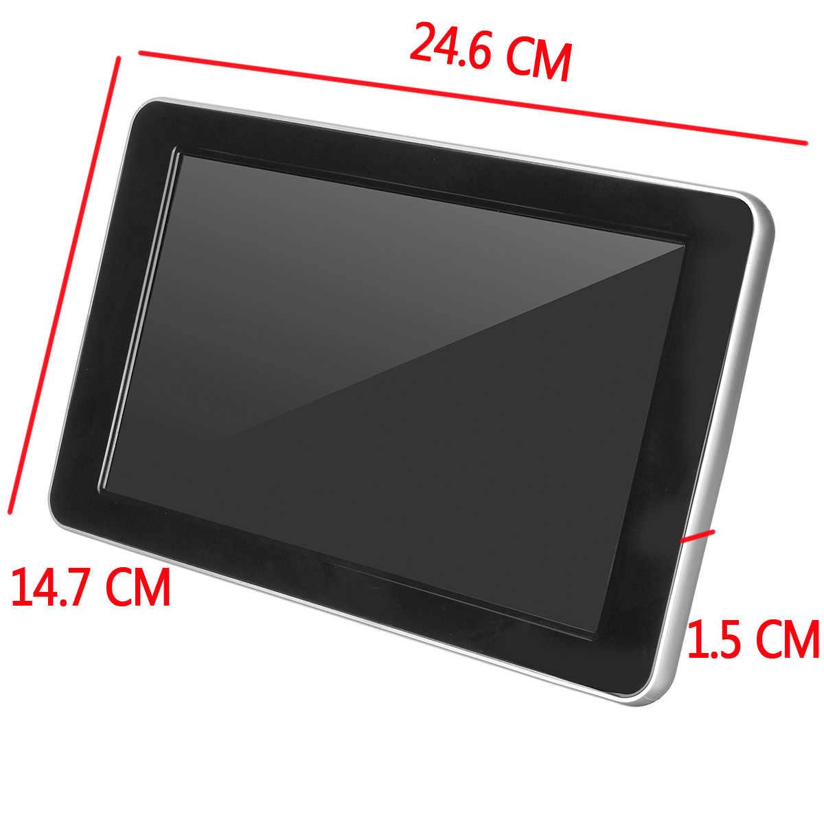 1024*600 مع HD راديو AV رصد لسيارة راديو لاعب 9 بوصة TFT شاشة عرض بلورية رقمية سيارة مسند الرأس لاعب اللمس مراقب
