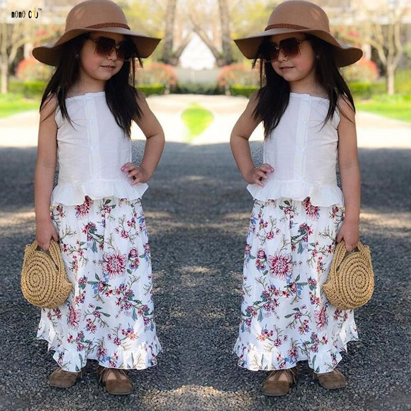 Child Woman Garments Set Youngsters Summer time Outfits Two Piece Sling Prime & Skirt Flower Printed Candy Youngster Woman Clothes 1 2 three four 5 Years Aliexpress, Aliexpress.com, On-line...